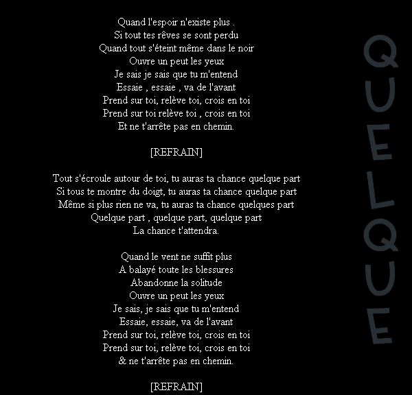 Quelque Part (2012)
